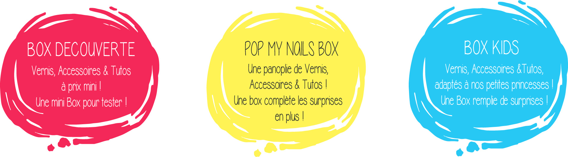 3 Box vernis Pop My Nails